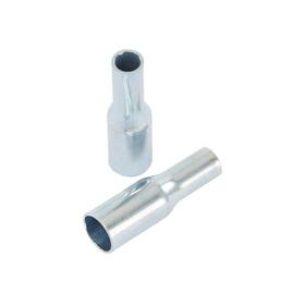 CAMPZ Ändhylsa till glasfiberstång Tälttillbehör 8 mm 2-pack silver